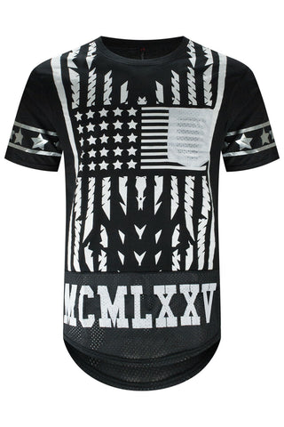 New American Flag Stripe T-Shirt