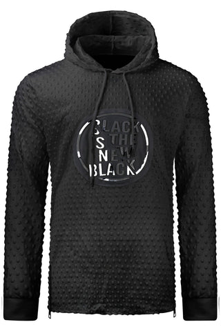 New Men Hooded Sweater Black Is The New Black