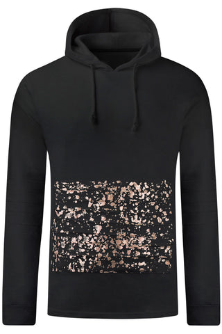 New Men Paint Splattered Fleece Hooded Sweaters