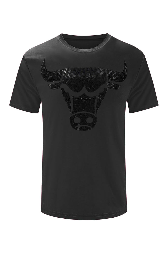 NEW Men Bulls 3D Design Print 4 Coors Simple Elegant Short Sleeve Sizes S-2XL