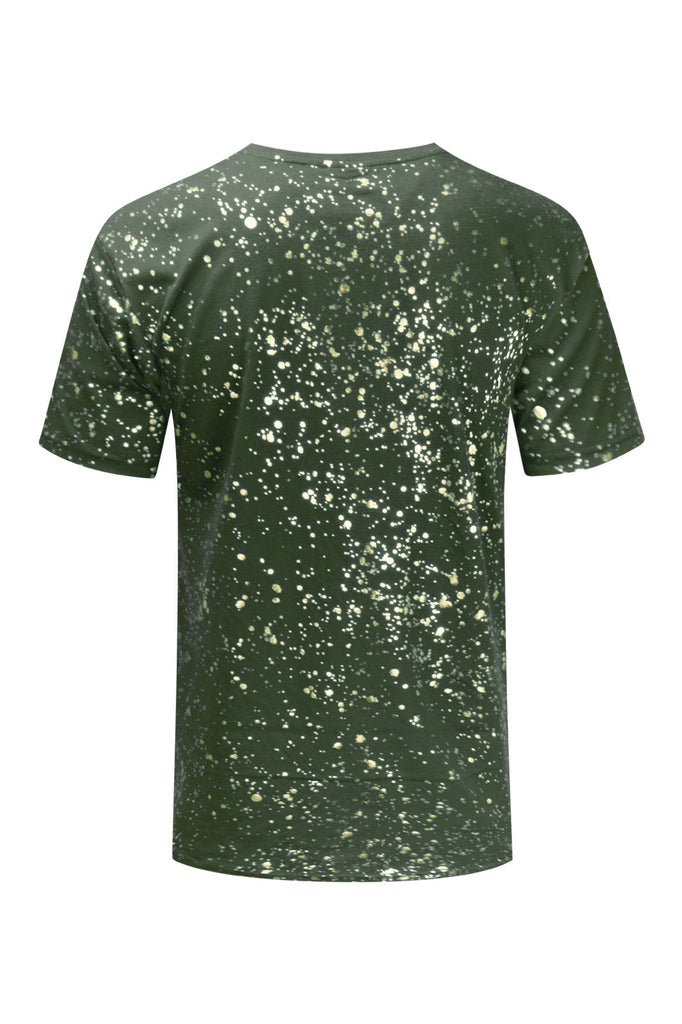 NEW Men 3D Design Paint Splatter 4 Colors Gold Silver Foil Stripes Sizes S-2XL