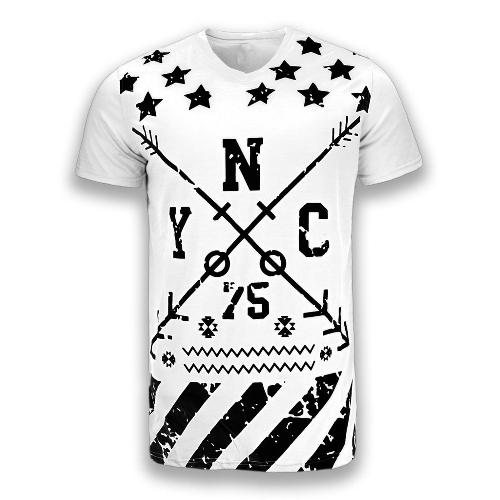 NEW Men Short Sleeve Shirt NYC New York City Shirt 4 Colors Sizes S-2X