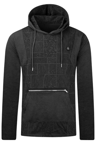 New Men Hooded Geometric Art Sweater