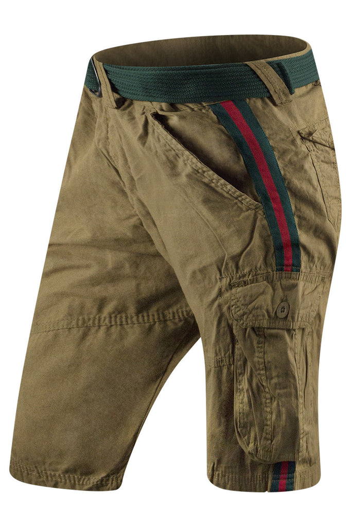 New Men Cargo Striped Shorts
