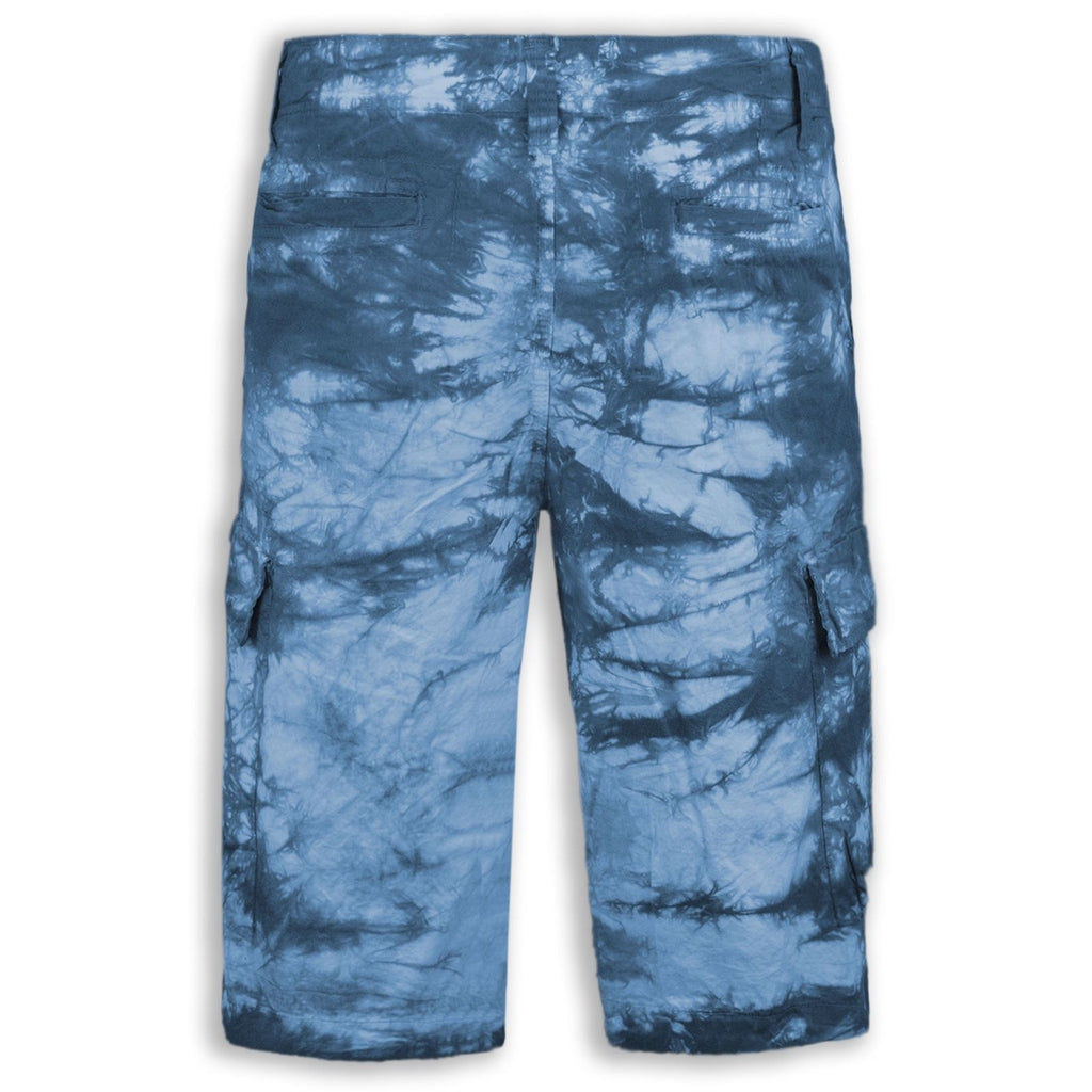 NEW Men Shorts Acid Dye Cargo Shorts Drawstrings Buttons ALL SIZES Buttons