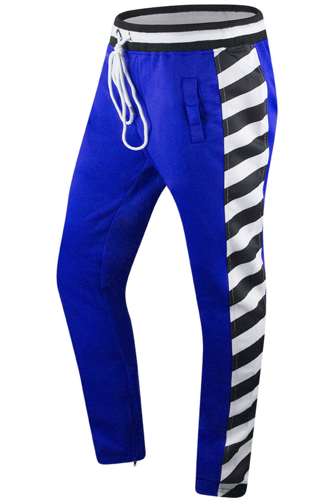 New Men Striped Track Pants
