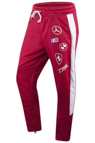 new Men GT Racing Track Pants Slim Fit