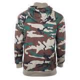 New Men Hooded Turtleneck Pullover Camo Gray Map Sweater Long Sleeve Pullover