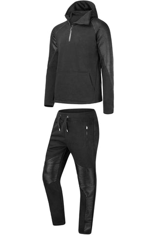 New Men Biker Premium PU Sweatsuit