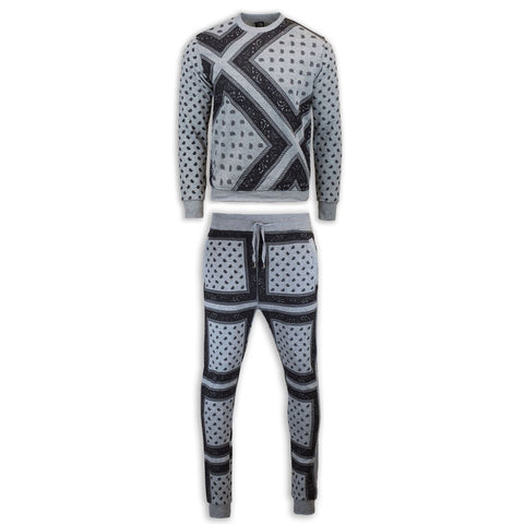 NEW Men Sweatsuit Joggers Sweatshirt Bandana Crewneck ALL SIZES Fleece Sweats