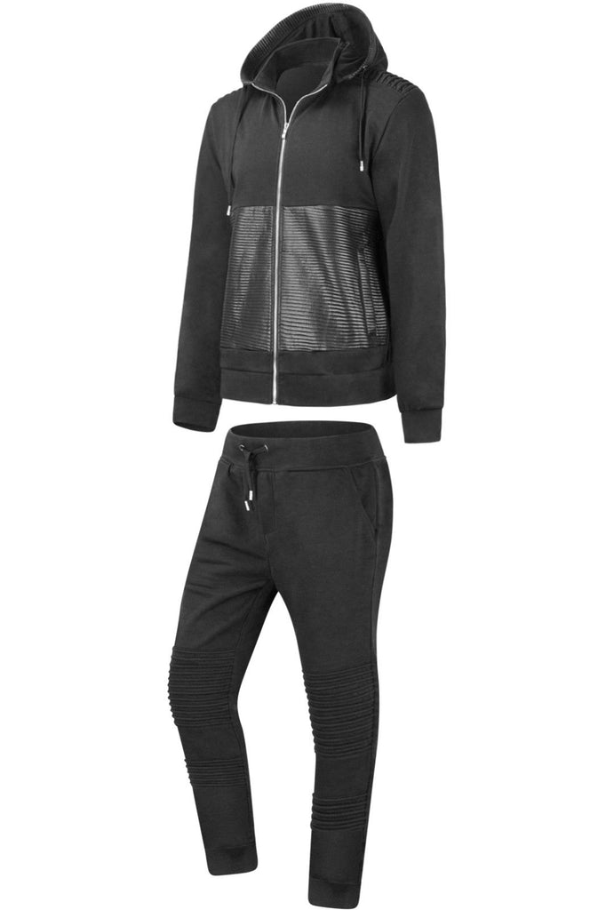 New Men Biker Premium Hooded Sweatsuit