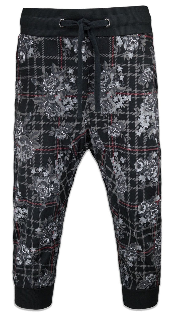 New Men Caprice French Terry Jogger Shorts Joggers Floral
