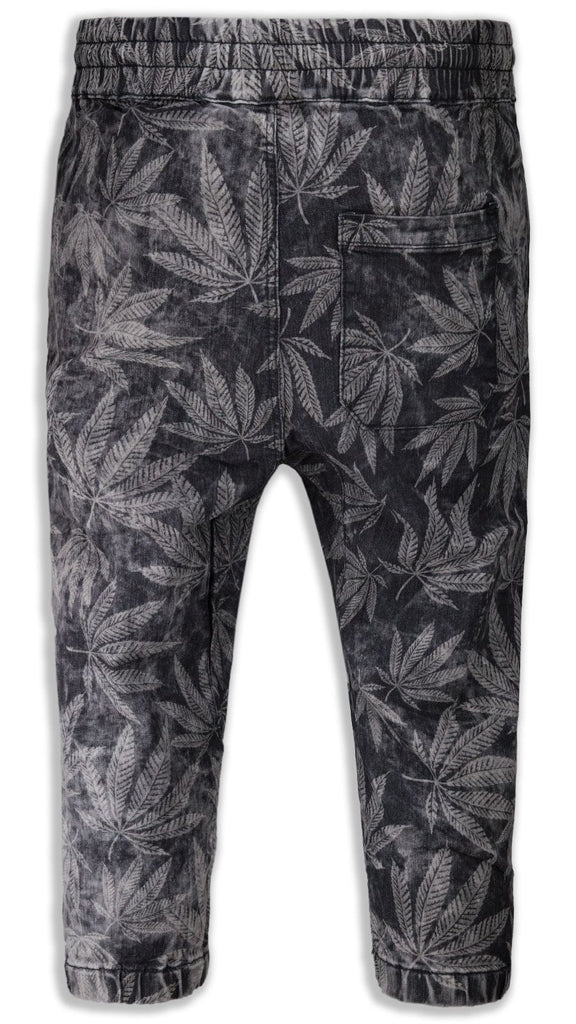 New Men Caprice French Terry Jogger Shorts Joggers Weed Print