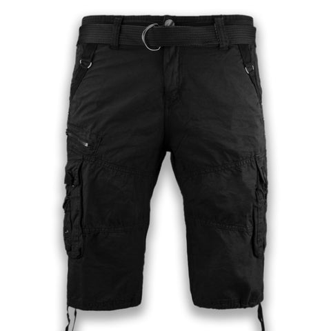 NEW Men Cargo Cotton Shorts FREE Belt Drawstrings