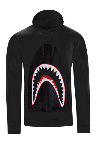 NEW Men Hoodie Shark Teeth Eyes Long Sleeve Sweater ALL SIZES RED BLACK WHITE