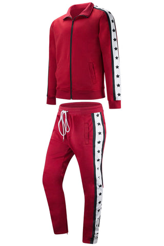 New Men Stars Track Suit Slim Fit
