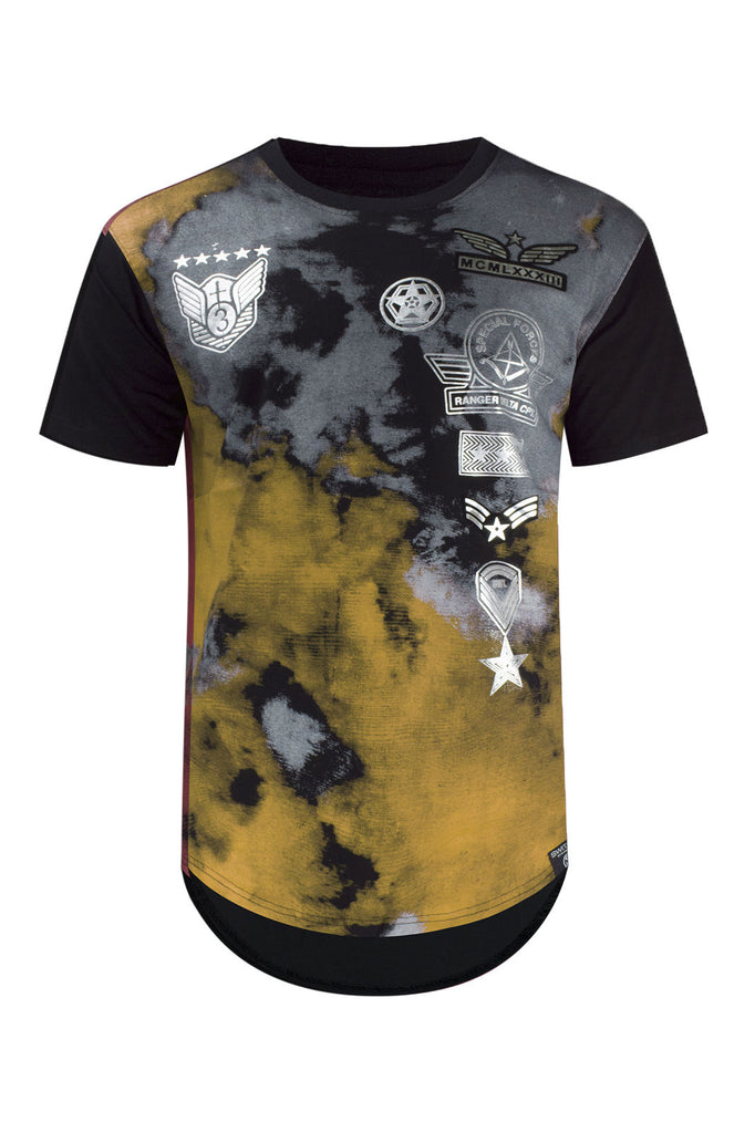 951f1a652 NEW Men Aviator Tie Dye Shirts Patches Rounded Elongated Shirts Tees 8  Colors