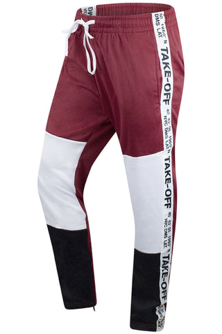 New Men Take Off Track Pants Tri-Color Slim Fit