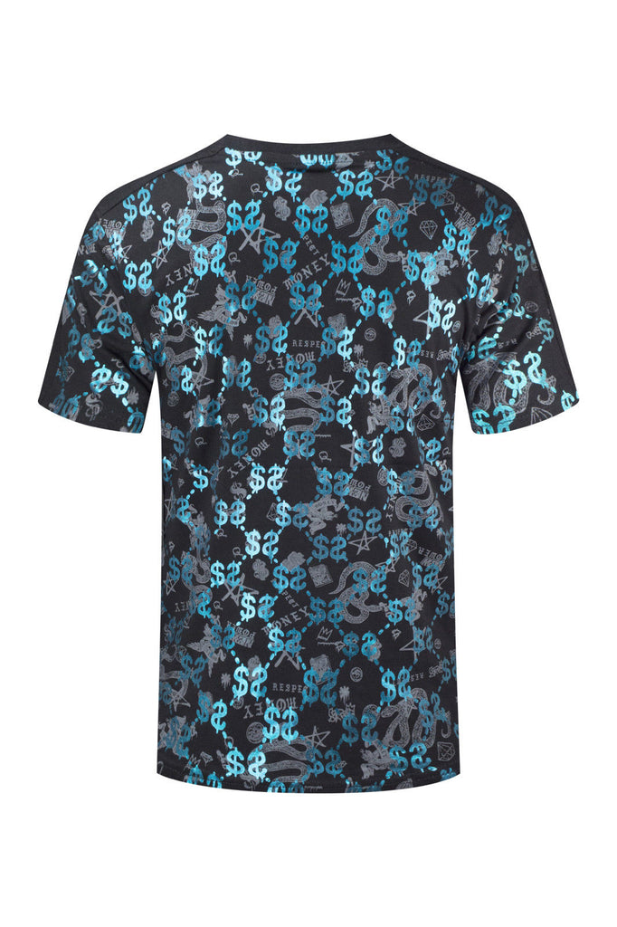 New Men Cash Money Longline T-Shirt