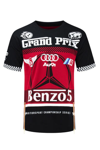 NEW Men Sport Cars Benzo5 Au9i Grand Prix Super Car Shirts Sizes S-3XL Fast