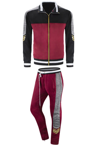 Men Track Suit Tribal Print