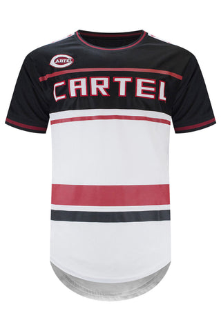 New Men Cartel Longline Jersey 2 Tone Slim Fit