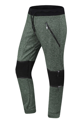 Fleece Biker Jogger Pants W/Zipper Pockets
