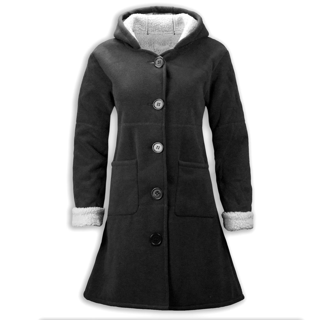 NEW Women Fashion Peacoat Fur Hoody Wool Heavy Weight Luxury Jacket