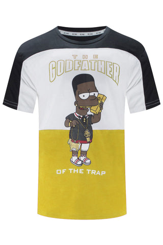 New Men The God Father Trap Bart Simpson T-Shirt