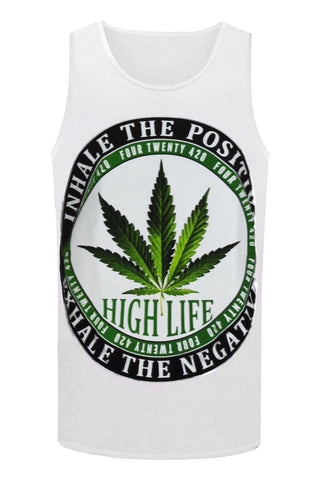 NEW Men Weed Tank Top 420 Friendly Shirt Pot Smoke Joints