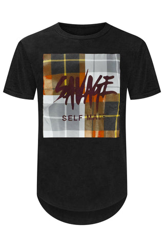 Savage Plaid Square T-Shirt