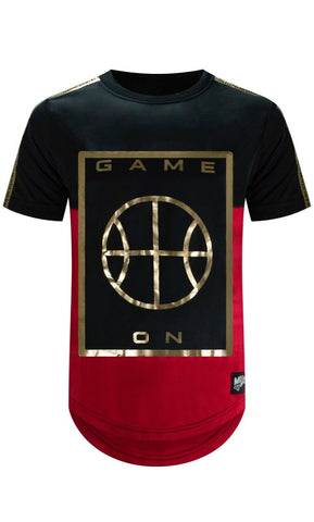 New 3D Embossed Game On Basketball T-Shirt