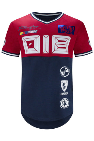 NEW Men Grand Prix Racing Code Zero Jersey