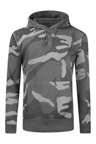 New Men Camo Fleece Sweater