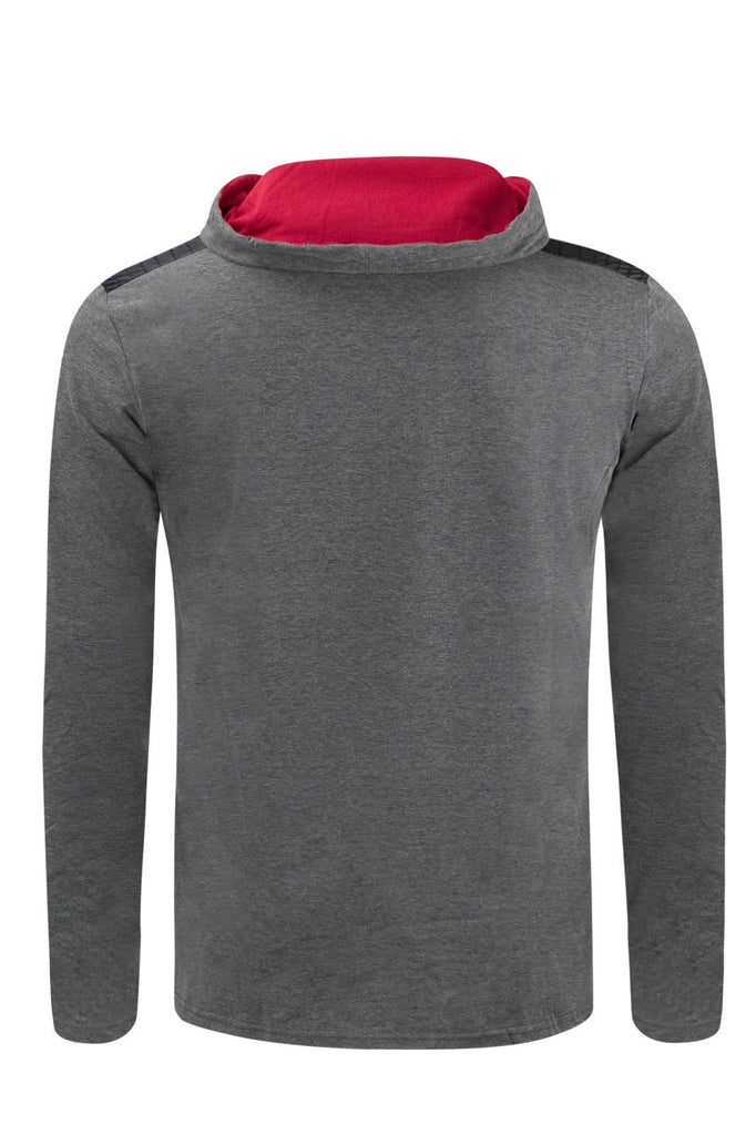 New Men Hooded Pullover Sweater With Chest Pocket