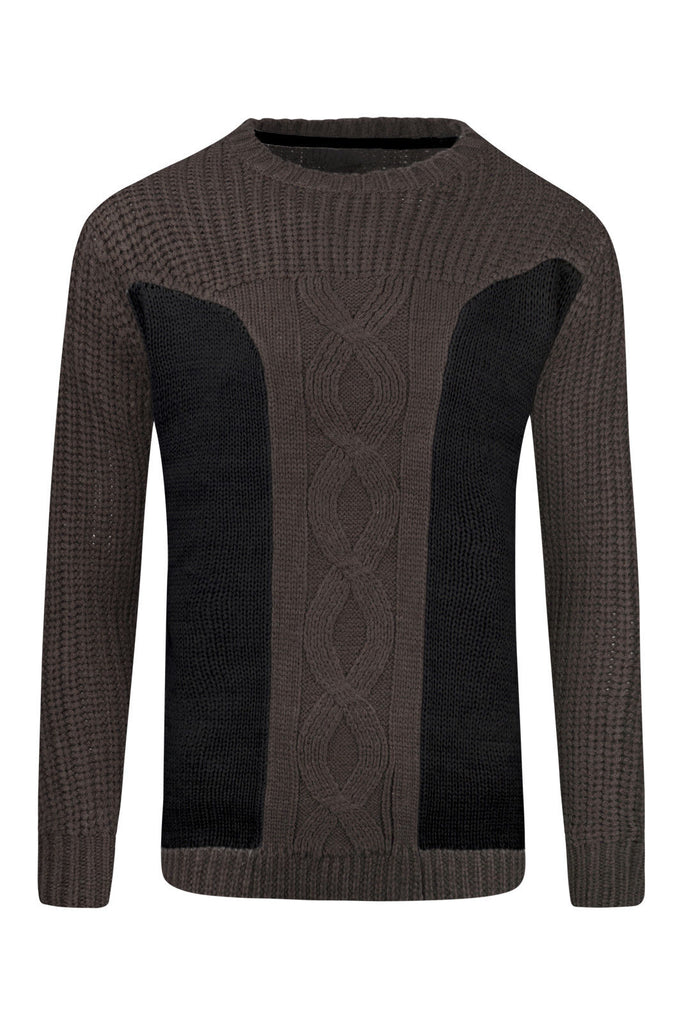 New Men Knitted Woven Pullover Sweater