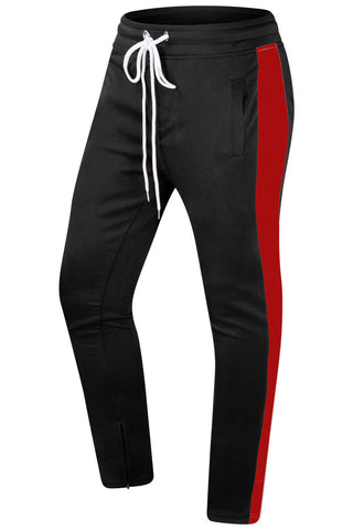 New Men Track Pants Elastic Waist Slim Fit