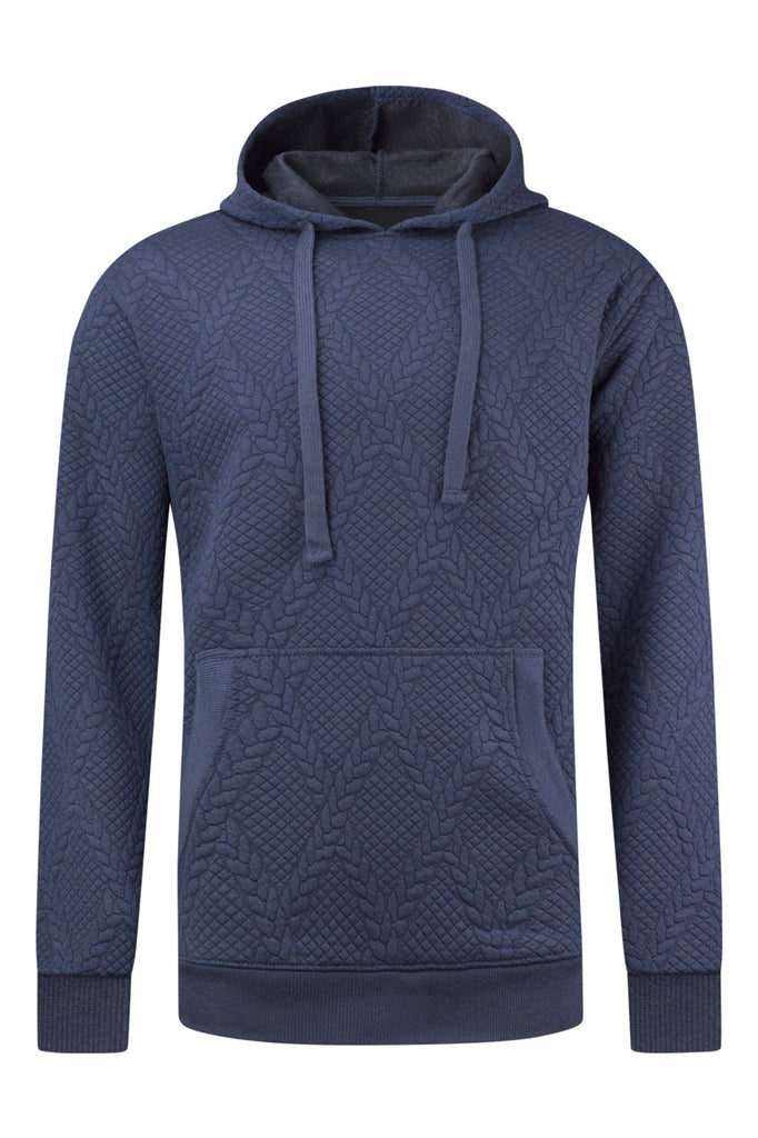 New Men Quilted Hooded Sweater