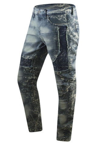 New Men Biker Distressed Premium Elastic Skinny Fit