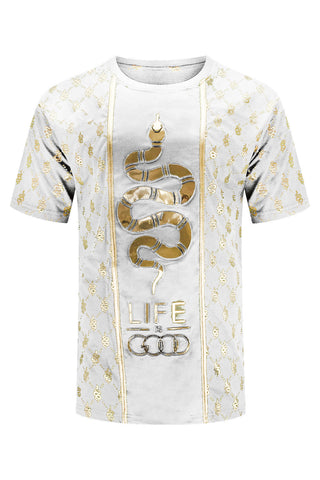 New Men Good Life Vibes 3D Embossed T-Shirt
