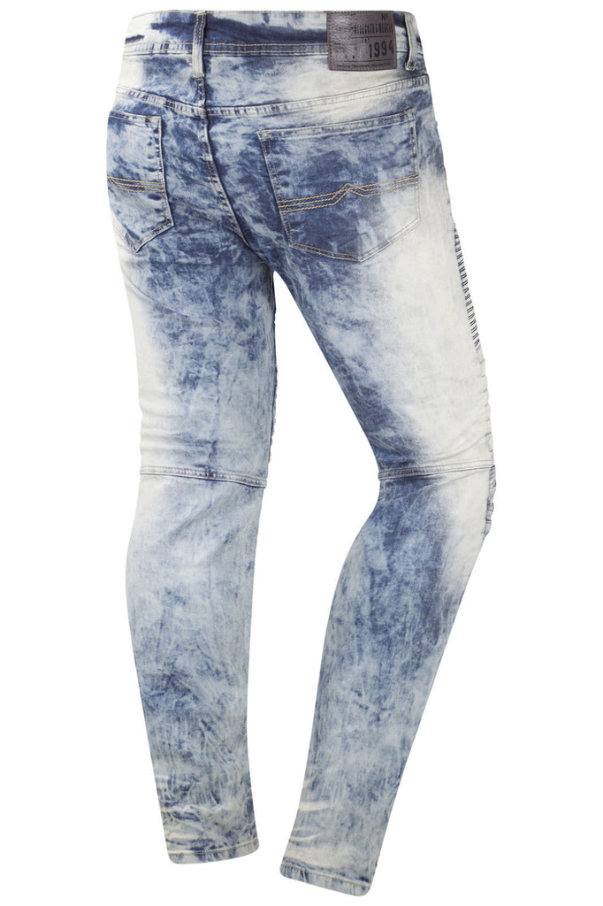 New Men Denim Biker Jeans Slim Fit