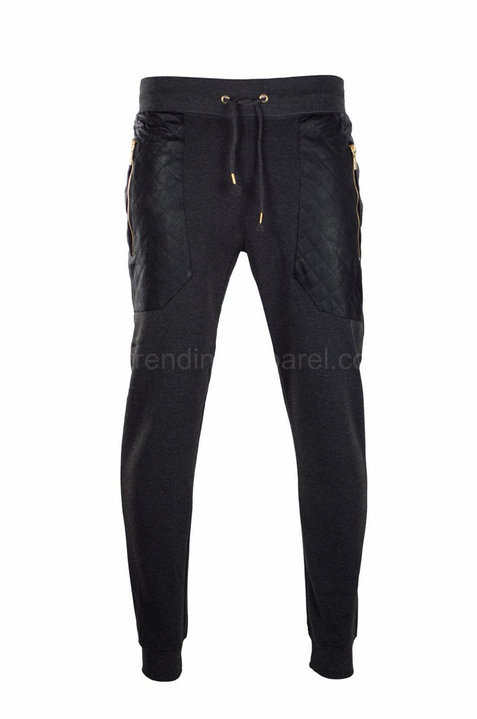 New Fleece Joggers Side Zipper