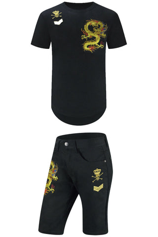 Golden Dragon Embroider Matching Set