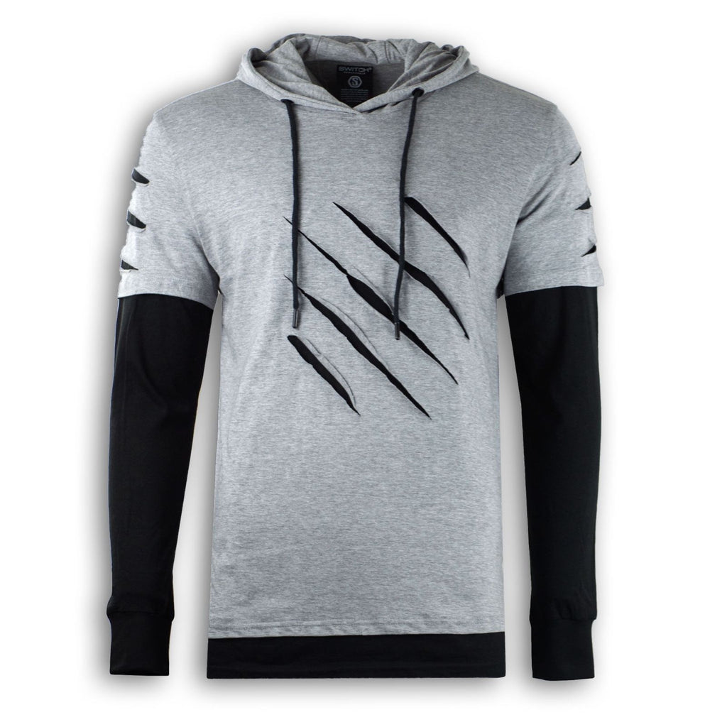 New Hoodie Ripped Long Sleeve Shirt