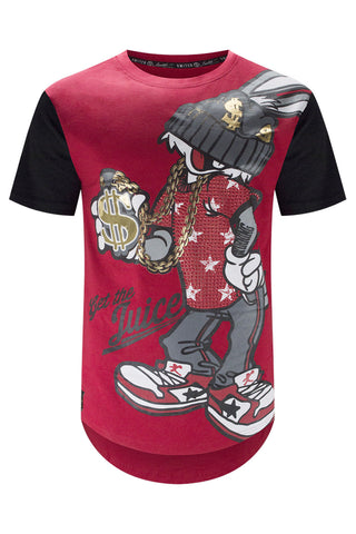 New Men Savage Ghetto Bunny Longline Tee
