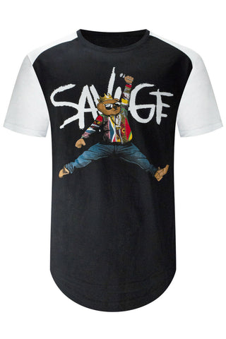 savage black t-shirt