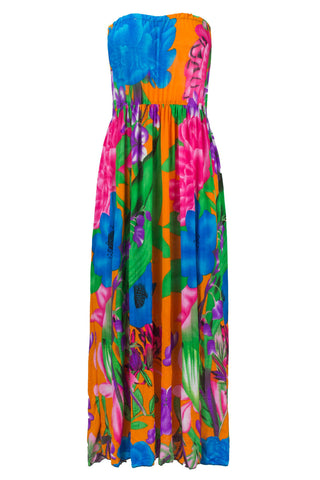 NEW Women Maxi Long Dress Floral Print 7 Colors Sizes M-XL Green Blue Red Black