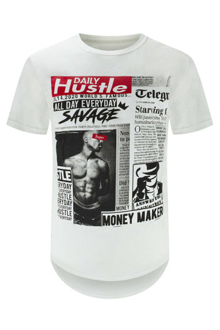 Savage Tupac Newspaper T-Shirt