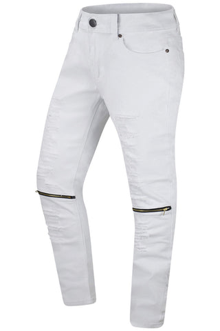 New Men Ripped Skinny Fit Jeans