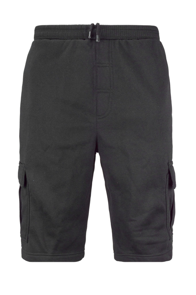 NEW Men Cargo Fleece Sweat Shorts Sizes M-5XL Elastic Waist Side Pockets